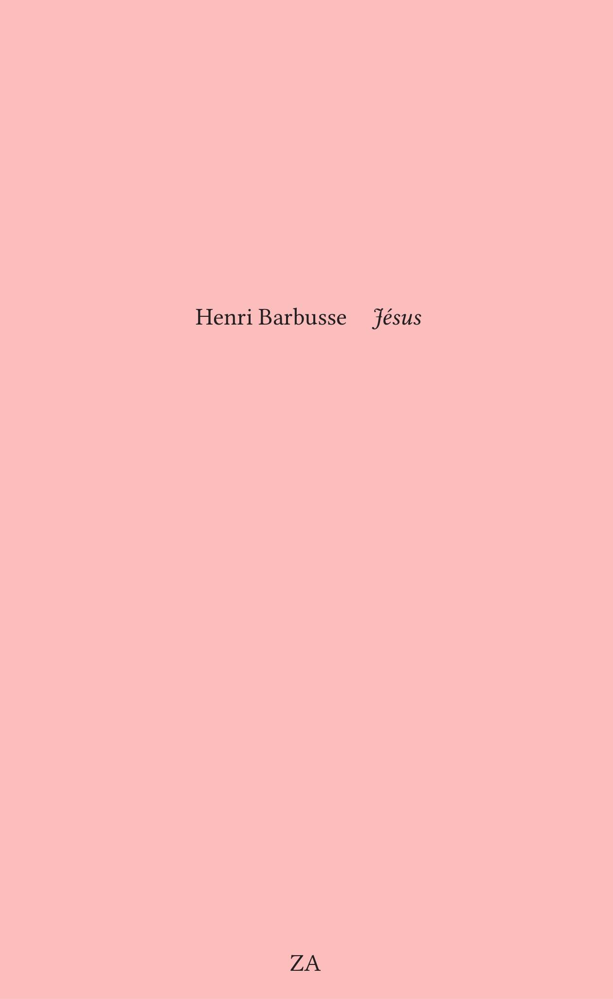 Jésus par Henri Barbusse
